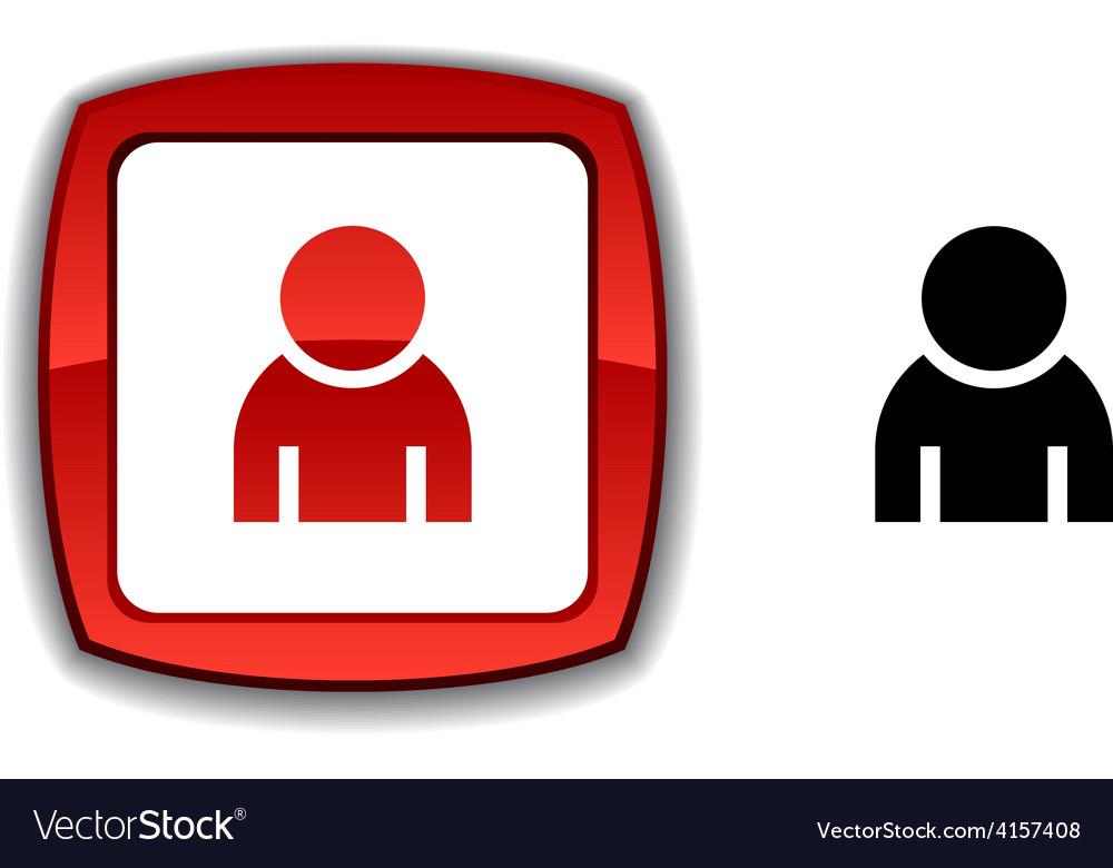 Person button vector | Price: 1 Credit (USD $1)