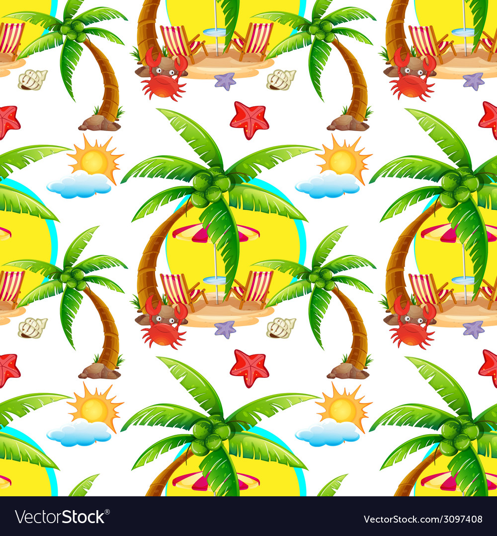 Seamless summer vector | Price: 1 Credit (USD $1)
