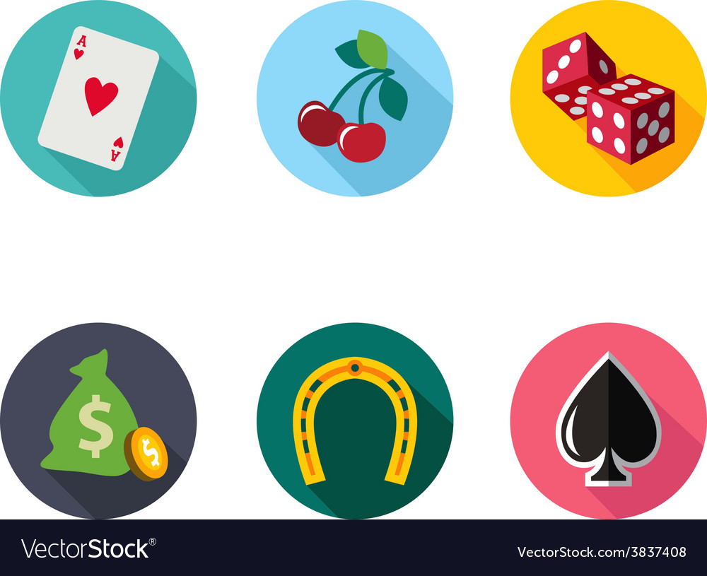 Slot machine symbols set vector | Price: 1 Credit (USD $1)