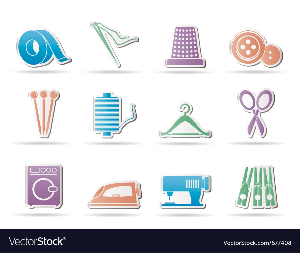 Textile icons vector | Price: 1 Credit (USD $1)