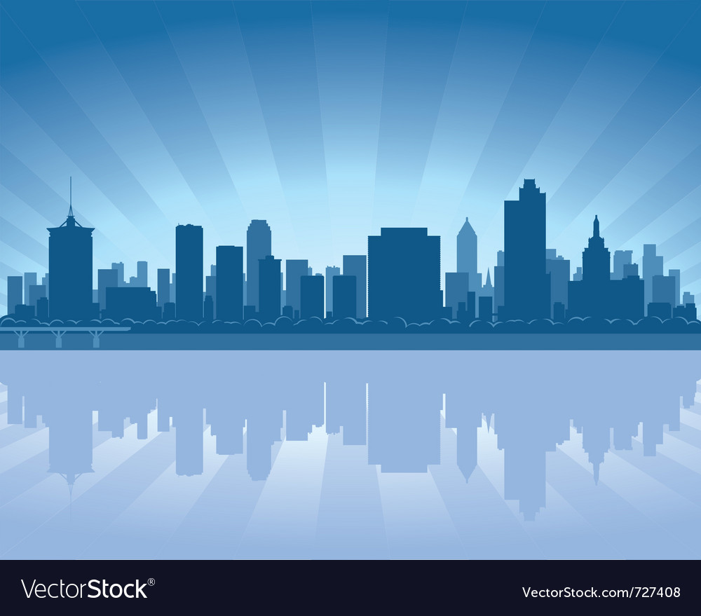 Tulsa oklahoma skyline vector | Price: 1 Credit (USD $1)
