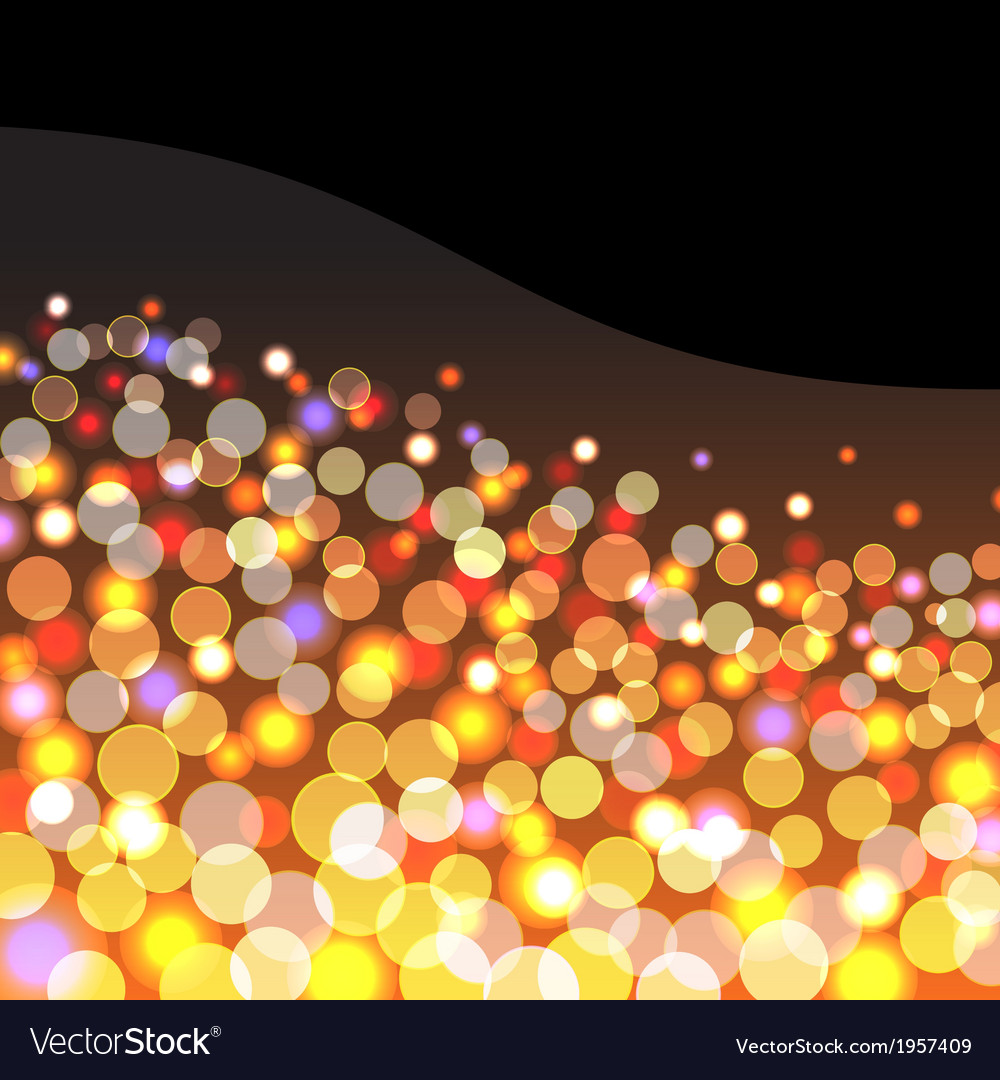 Abstract background with golden lights vector | Price: 1 Credit (USD $1)