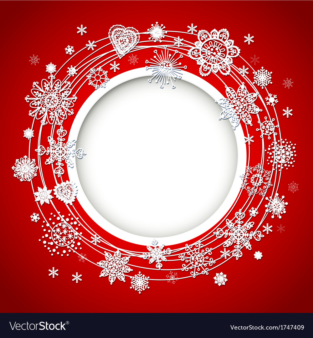 Abstract christmas ball cutted from paper vector | Price: 1 Credit (USD $1)