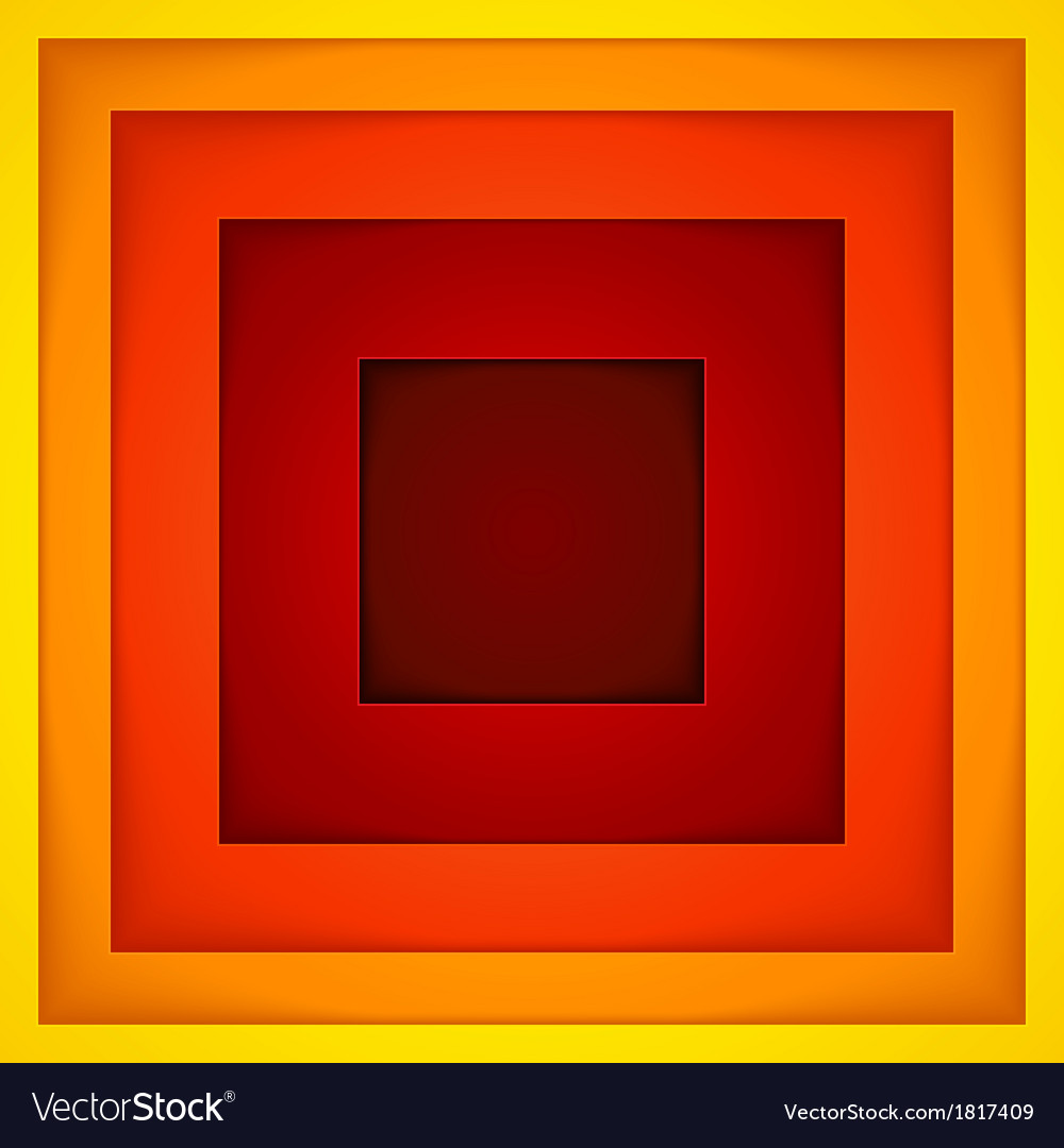 Abstract red orange and yellow paper shapes vector | Price: 1 Credit (USD $1)