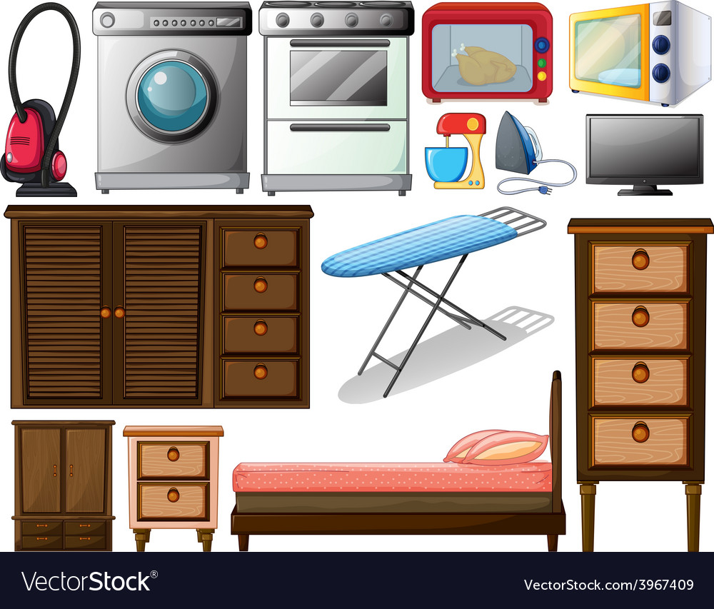 Appliances vector | Price: 1 Credit (USD $1)