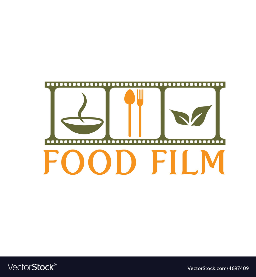Food film concept design template vector | Price: 1 Credit (USD $1)
