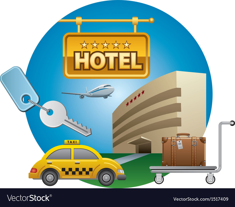 Hotel service icon vector | Price: 3 Credit (USD $3)