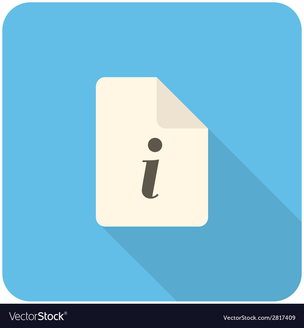 Info icon vector | Price: 1 Credit (USD $1)