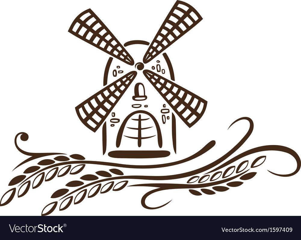 Mill grain bakery vector   Price: 1 Credit (USD $1)