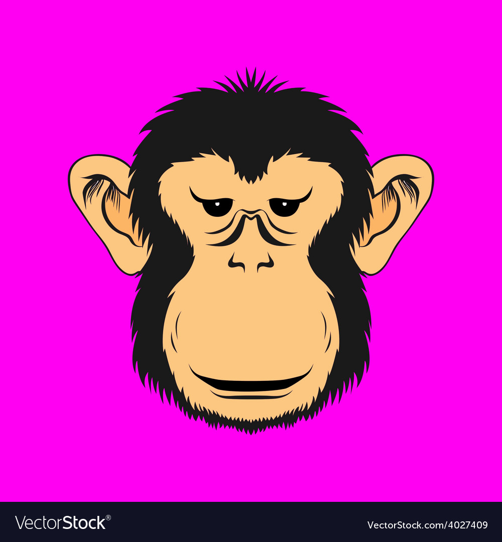 Monkey face print vector | Price: 1 Credit (USD $1)