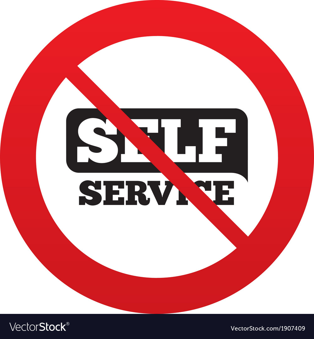 No self service sign icon maintenance button vector | Price: 1 Credit (USD $1)