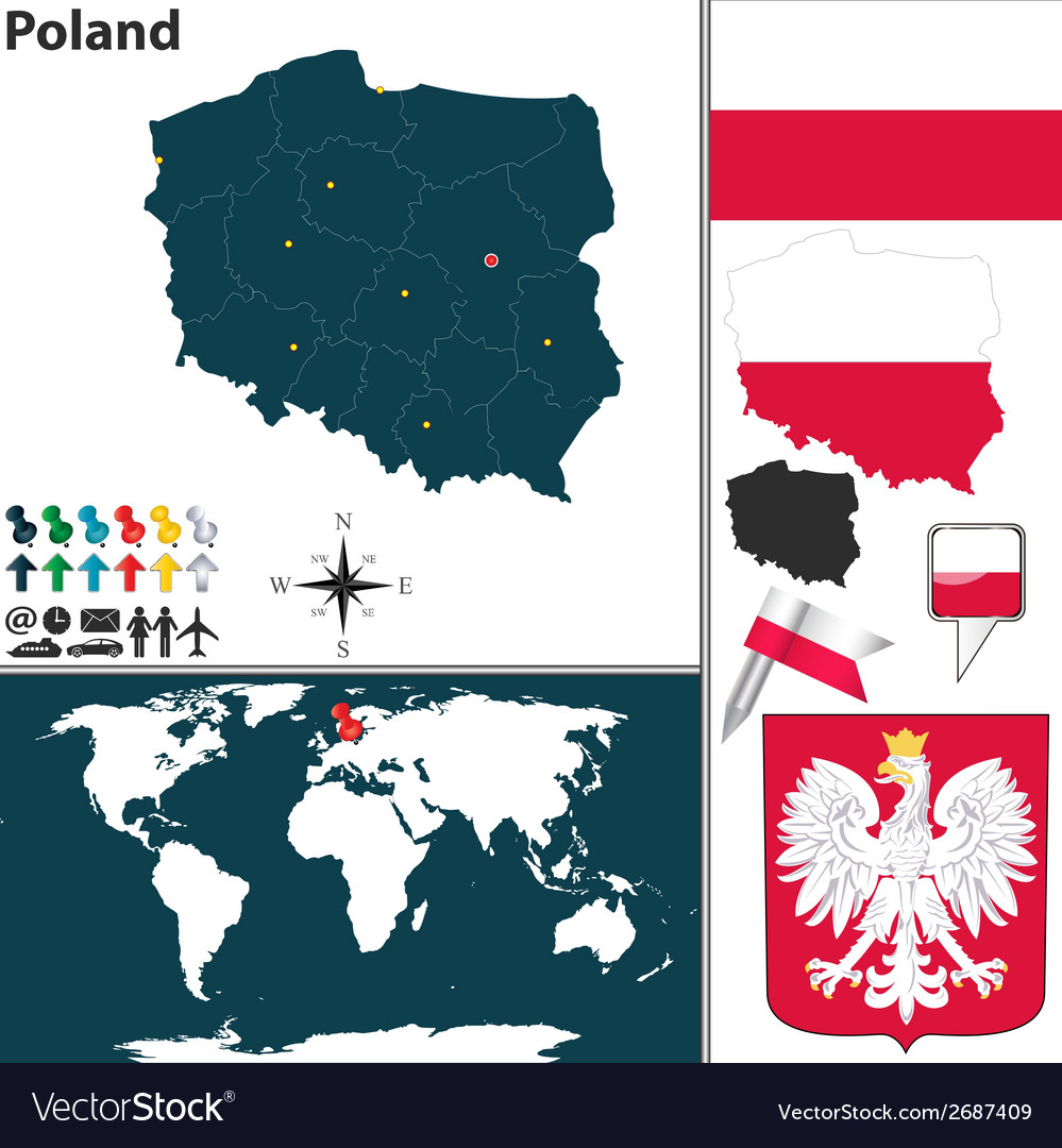 Poland map vector | Price: 1 Credit (USD $1)