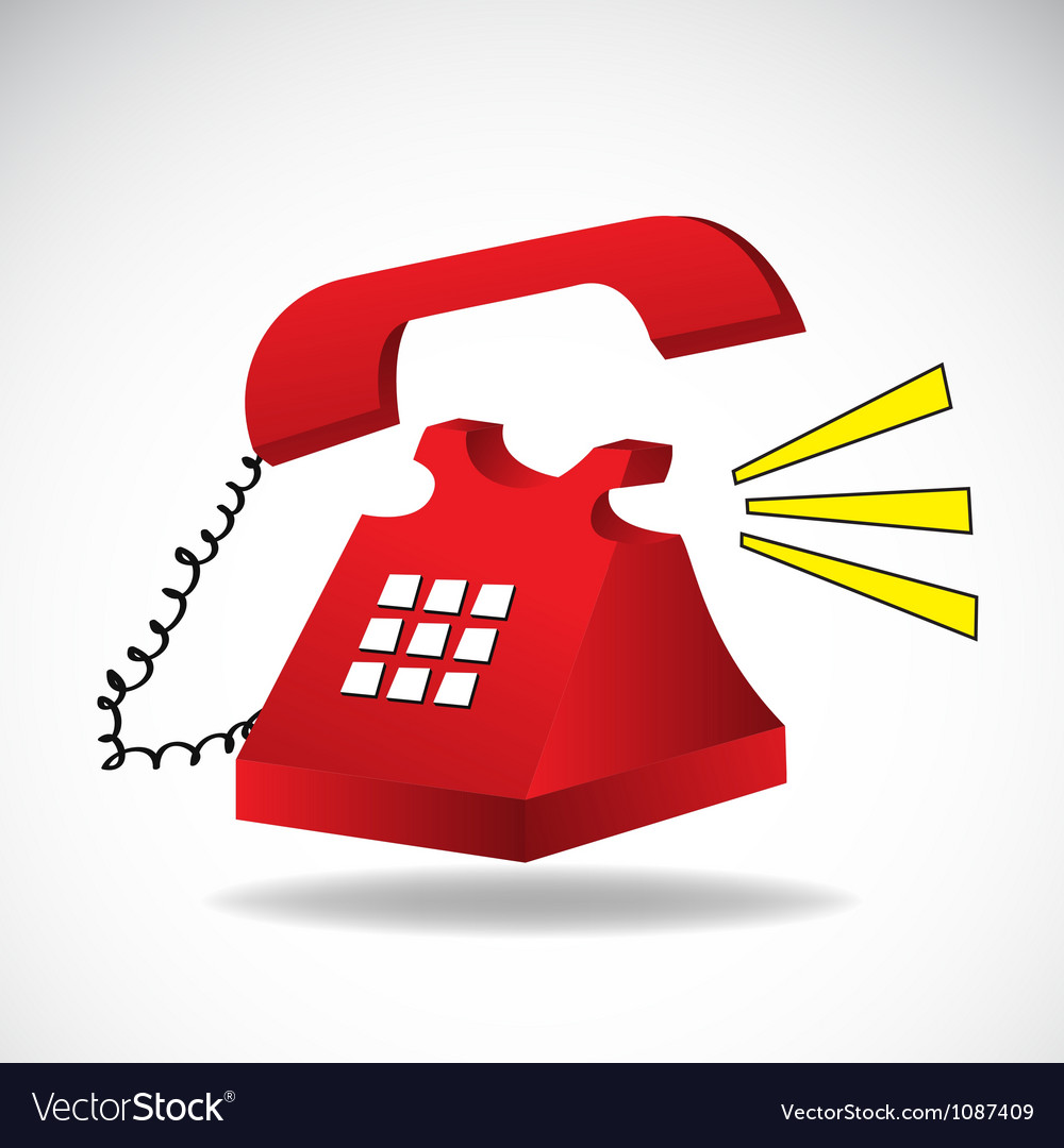 Ringing phone vector | Price: 1 Credit (USD $1)