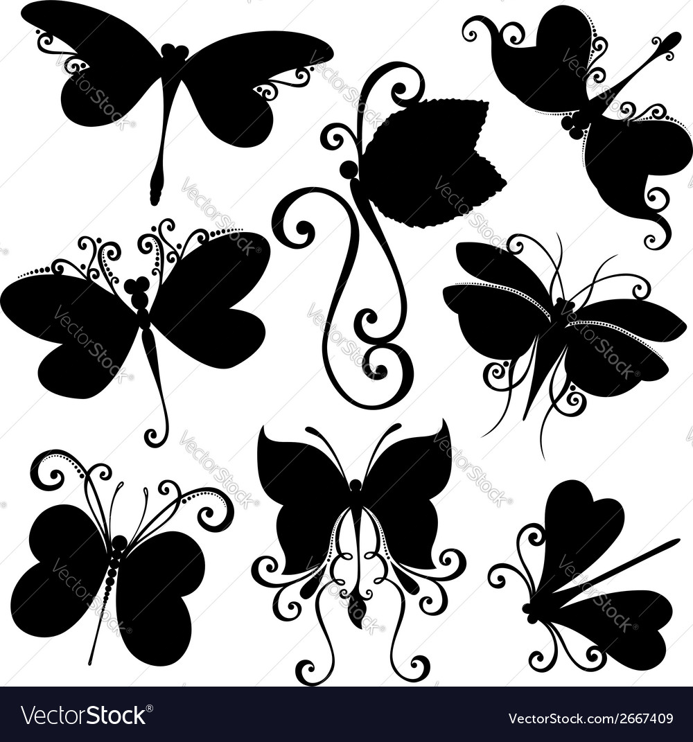 Set of dragonflies vector | Price: 1 Credit (USD $1)