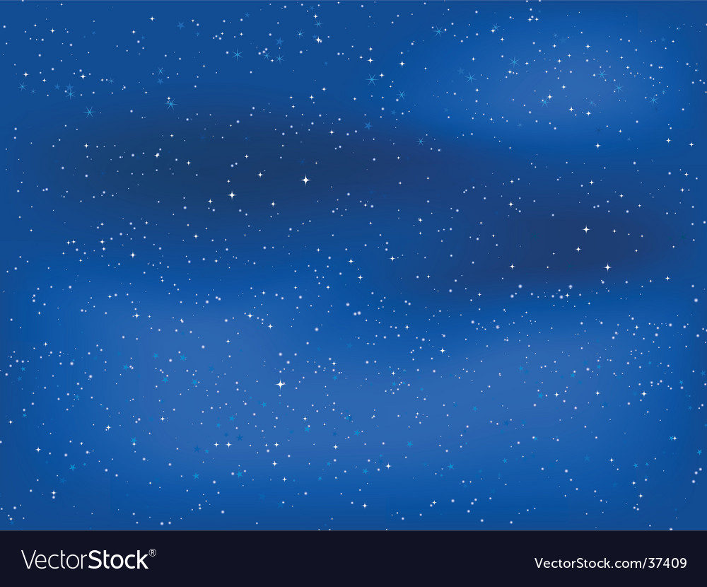 Starry night sky vector | Price: 1 Credit (USD $1)