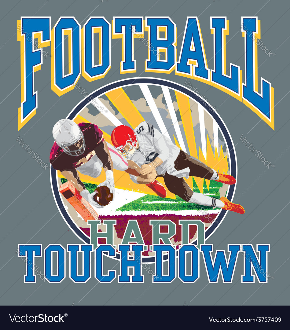 Touchdown football player vector | Price: 1 Credit (USD $1)