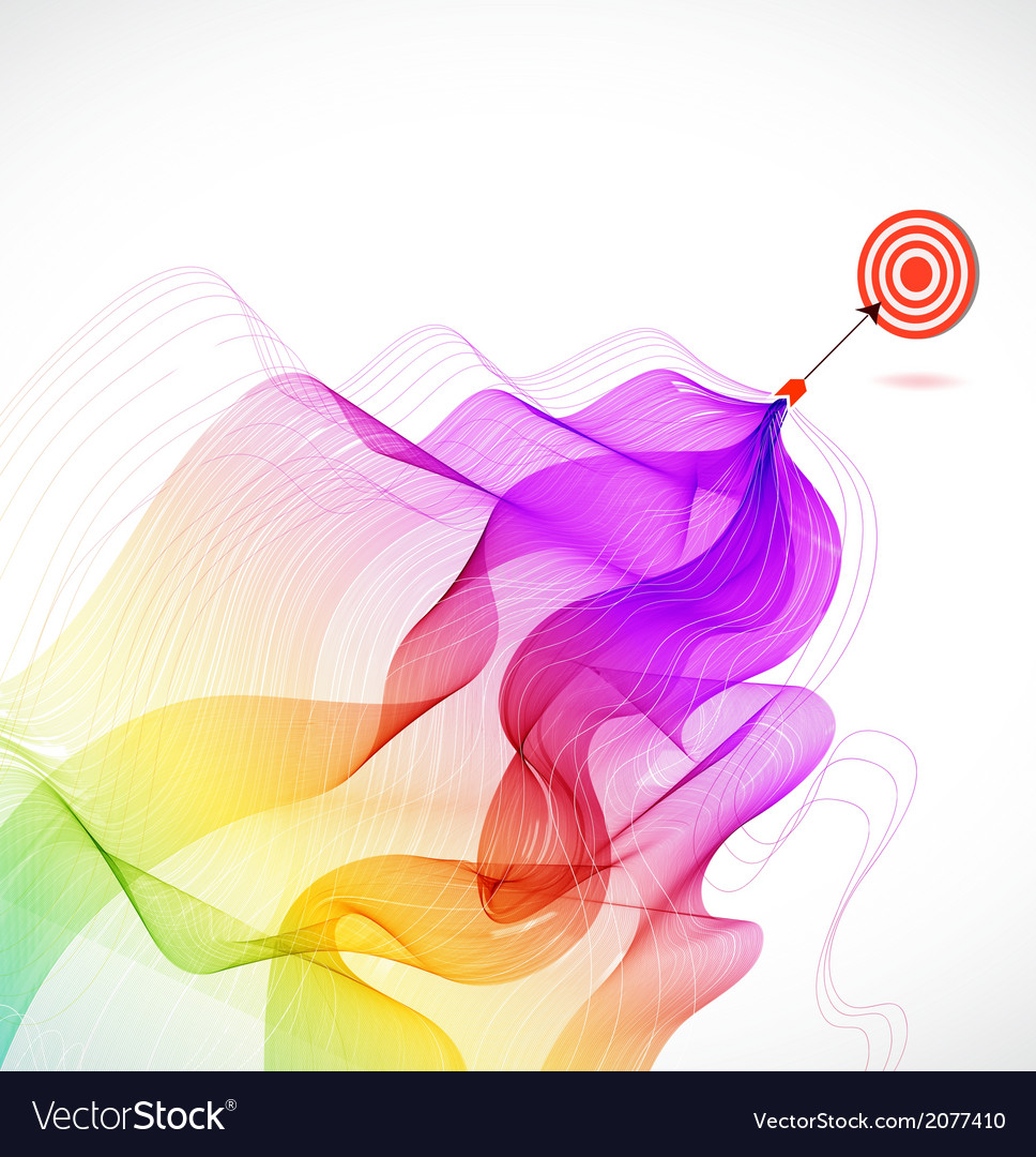 Abstract colorful background with arrow hitting a vector | Price: 1 Credit (USD $1)