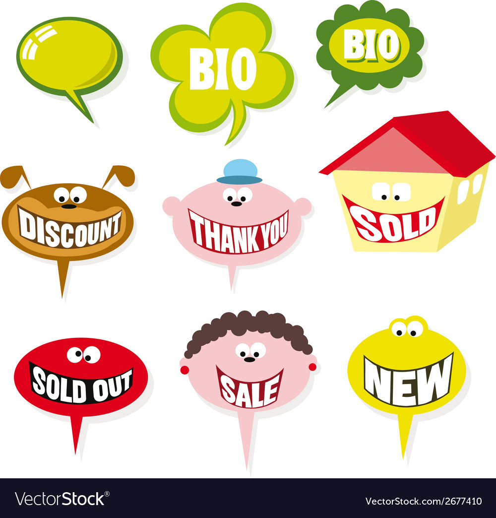 Bubbles speech vector | Price: 1 Credit (USD $1)