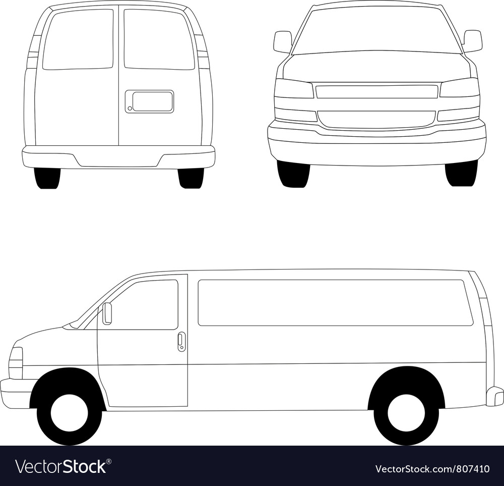Delivery van lines vector | Price: 1 Credit (USD $1)