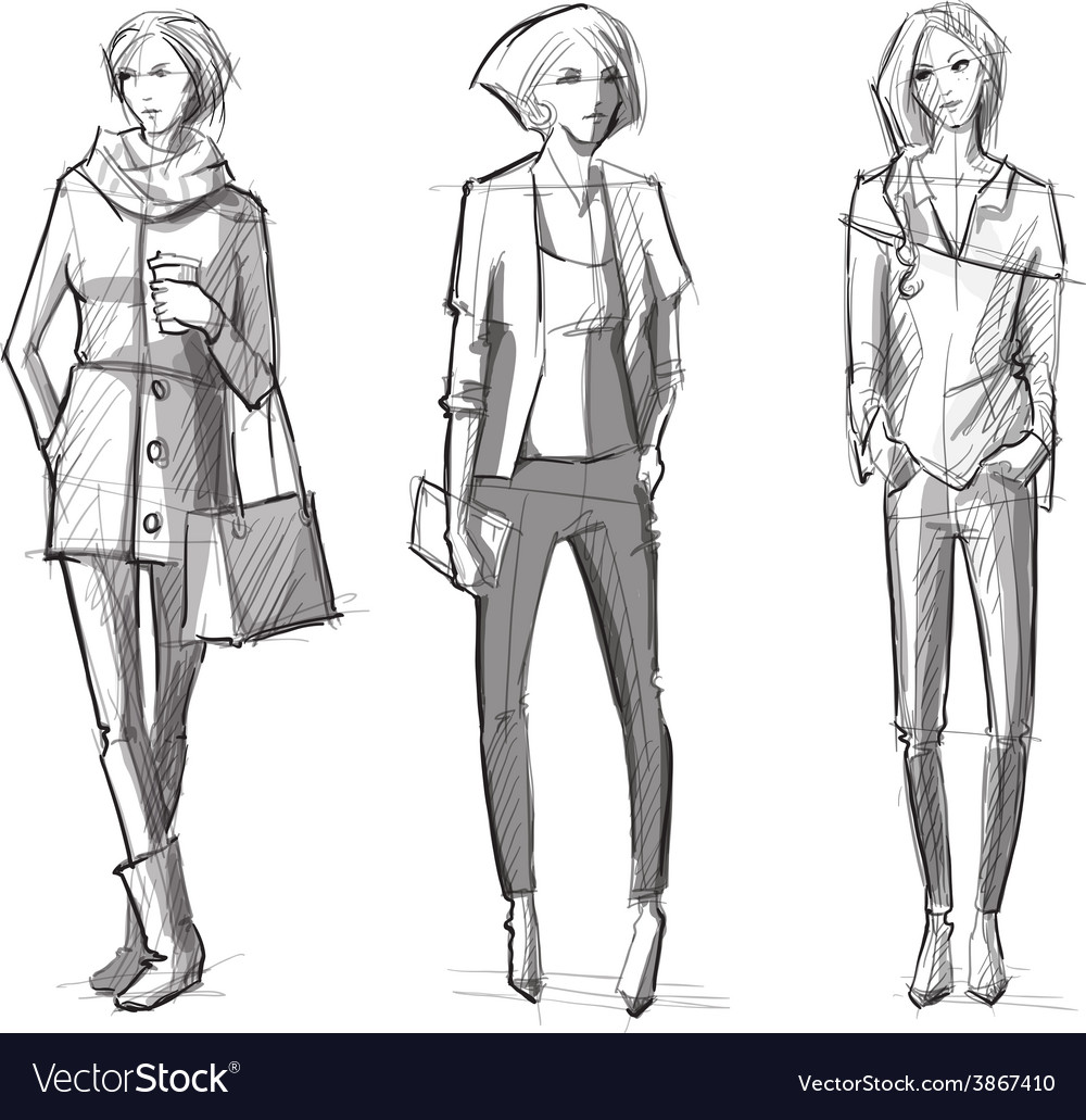 Fashion hand drawn vector | Price: 1 Credit (USD $1)