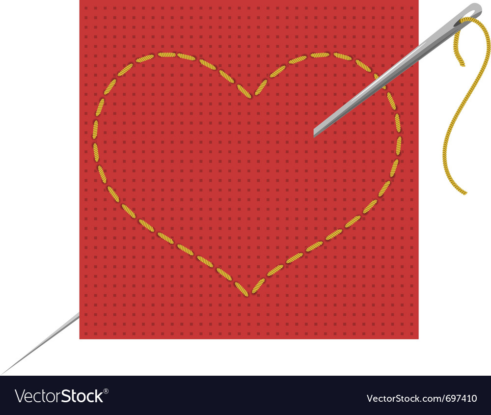 Heart needle vector | Price: 1 Credit (USD $1)