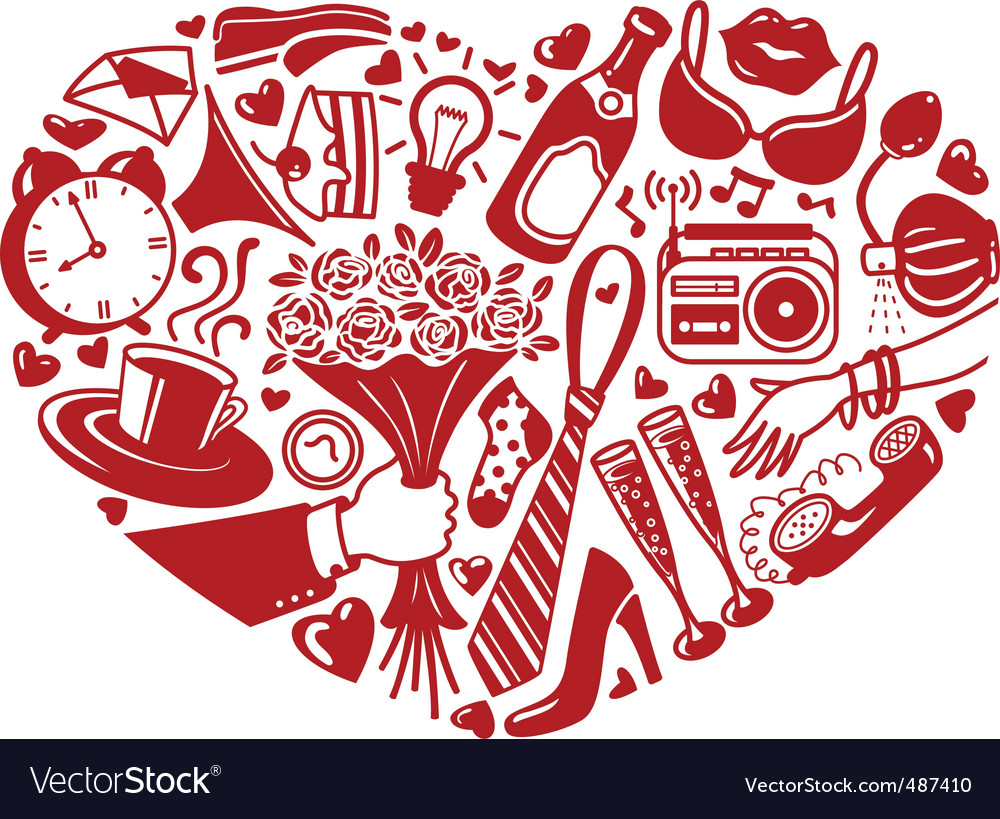 Heart silhouette vector | Price: 1 Credit (USD $1)