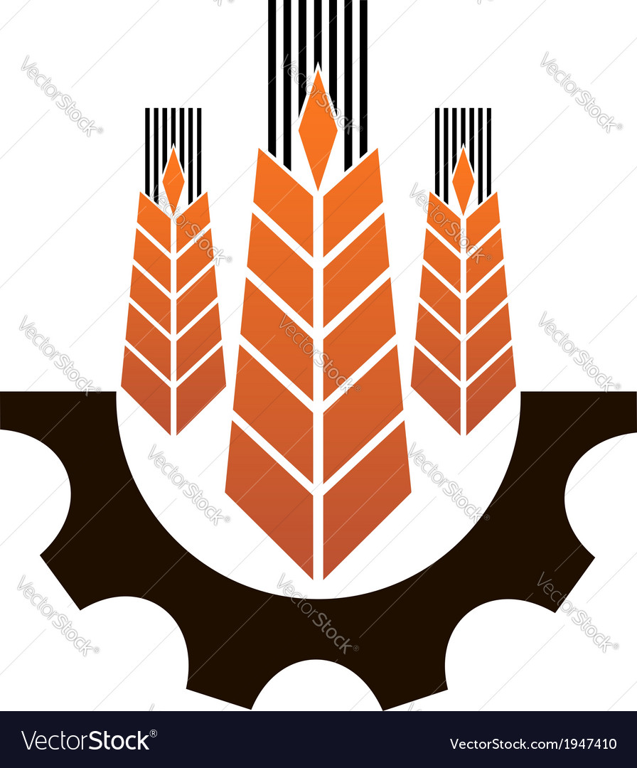 Icon depicting industry and agriculture vector | Price: 1 Credit (USD $1)