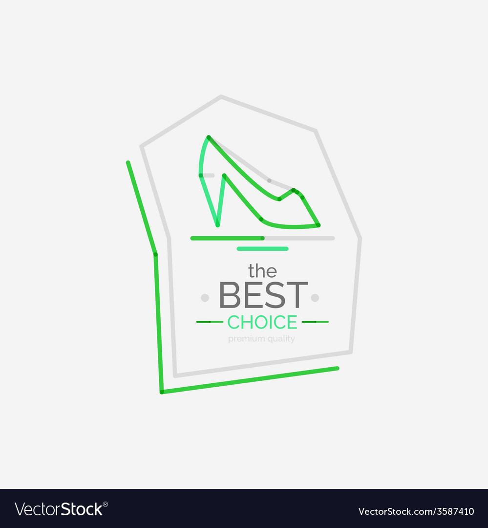 Minimal line design shopping stamps best choice vector | Price: 1 Credit (USD $1)