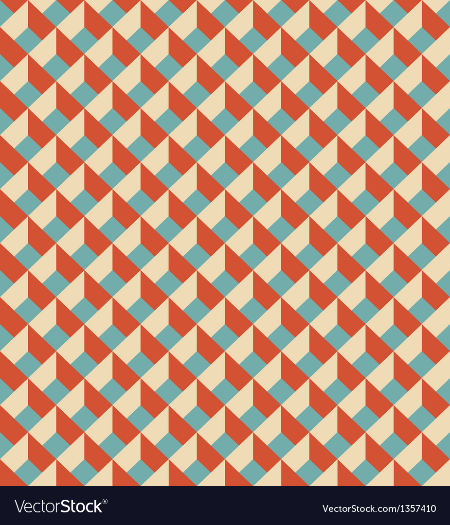 Mosaic seamless pattern in retro style vector | Price: 1 Credit (USD $1)
