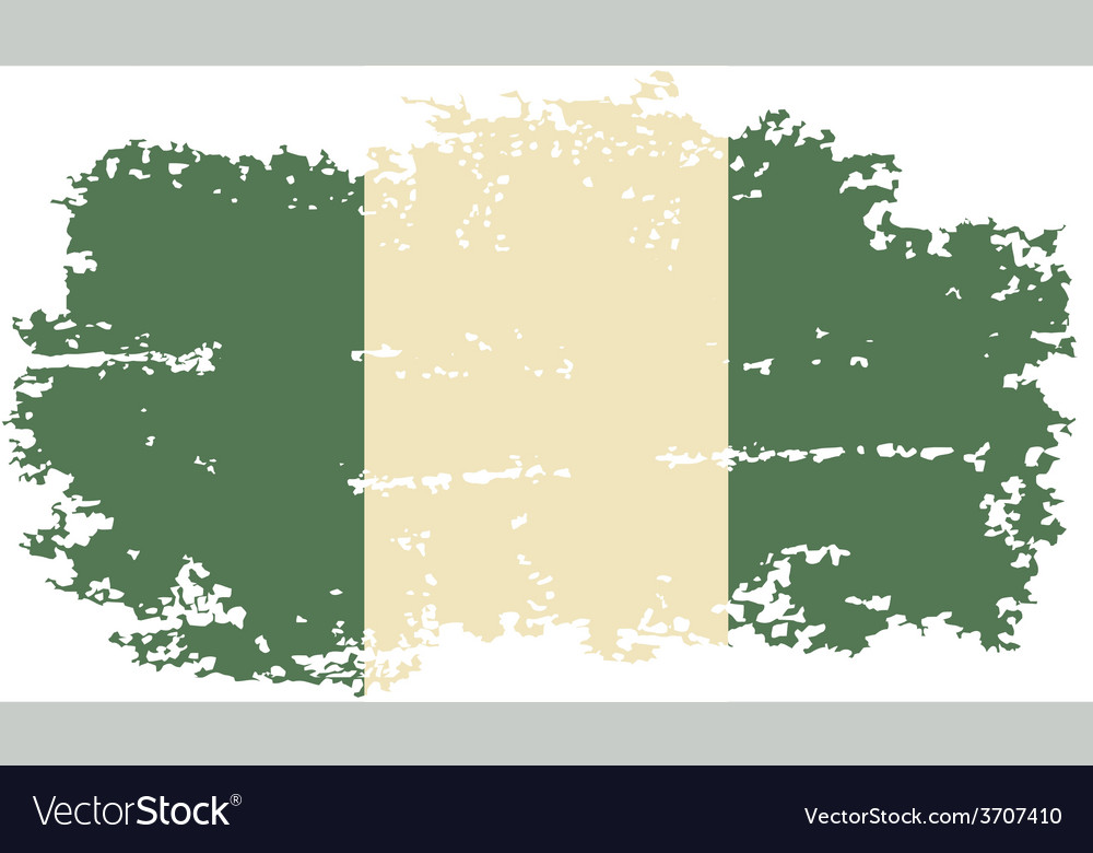 Nigerian grunge flag vector | Price: 1 Credit (USD $1)