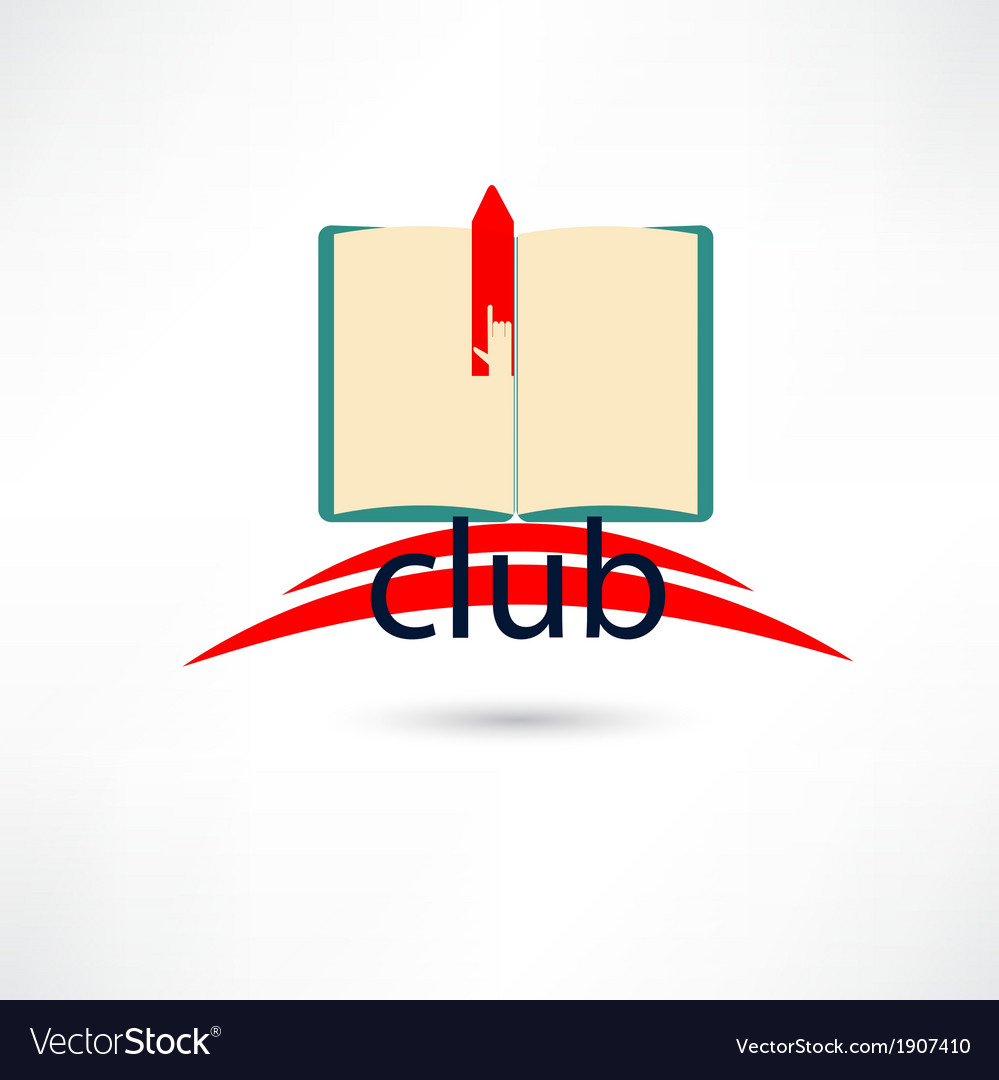 Open club boook with hand and bookmark vector | Price: 1 Credit (USD $1)