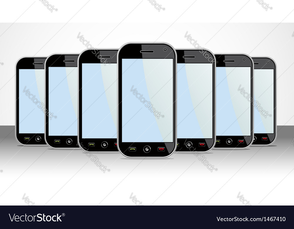 Set of generic smartphones device useful for app vector | Price: 1 Credit (USD $1)