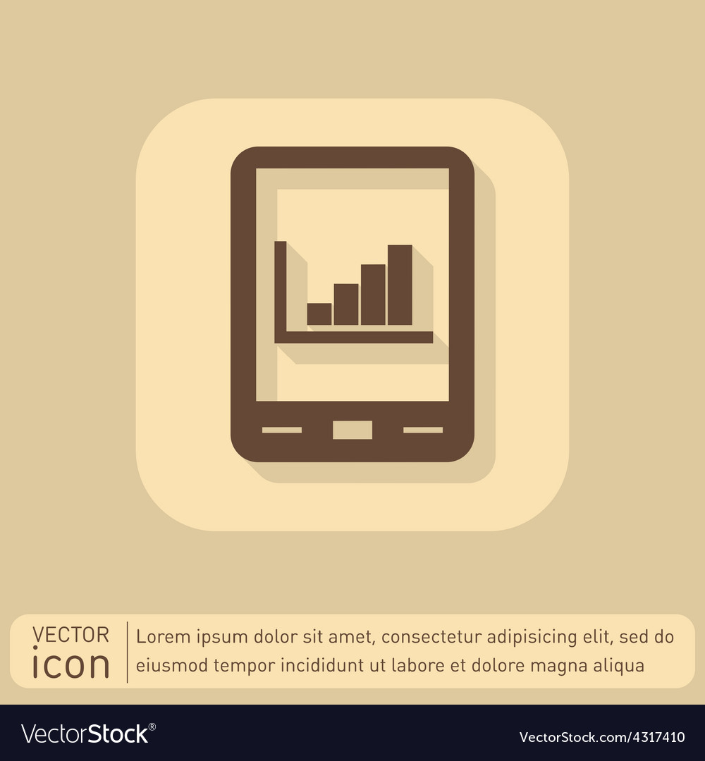 Tablet pad with diagram vector | Price: 1 Credit (USD $1)
