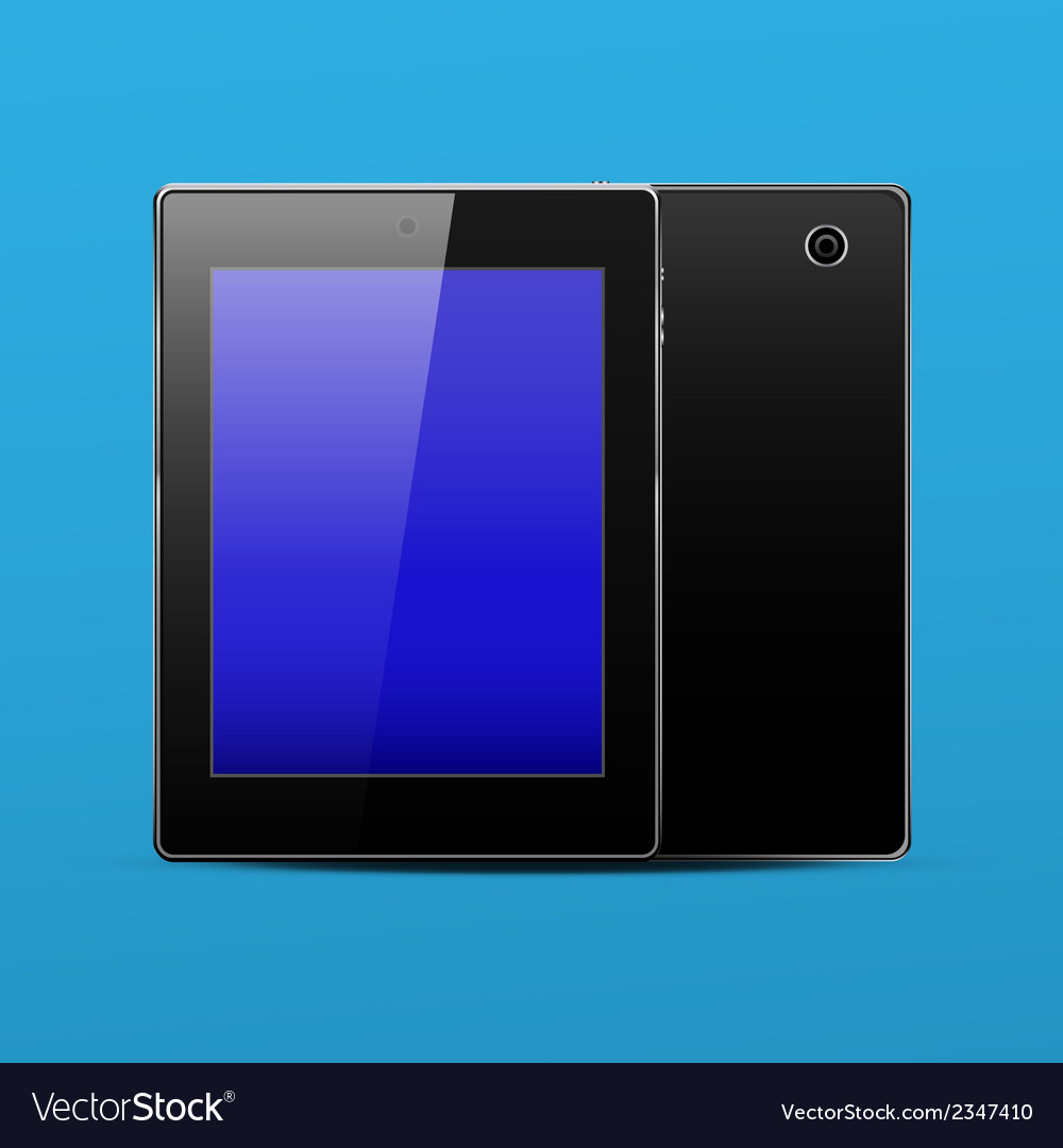 Tablet pc black vector | Price: 1 Credit (USD $1)