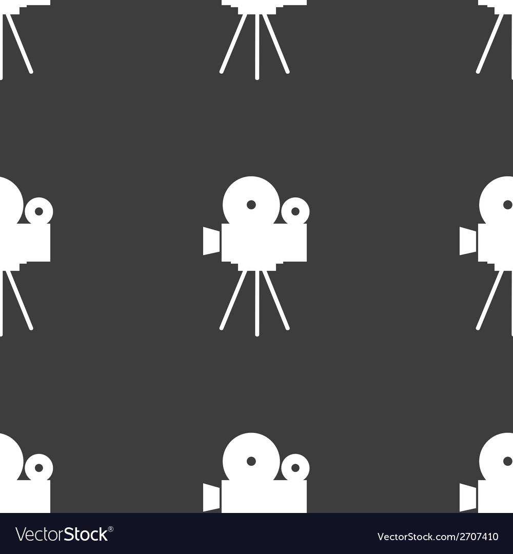 Videocamera web icon flat design seamless gray vector | Price: 1 Credit (USD $1)