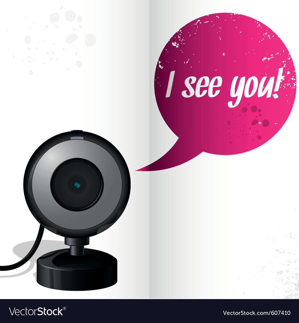 Webcam with text i see you vector | Price: 1 Credit (USD $1)