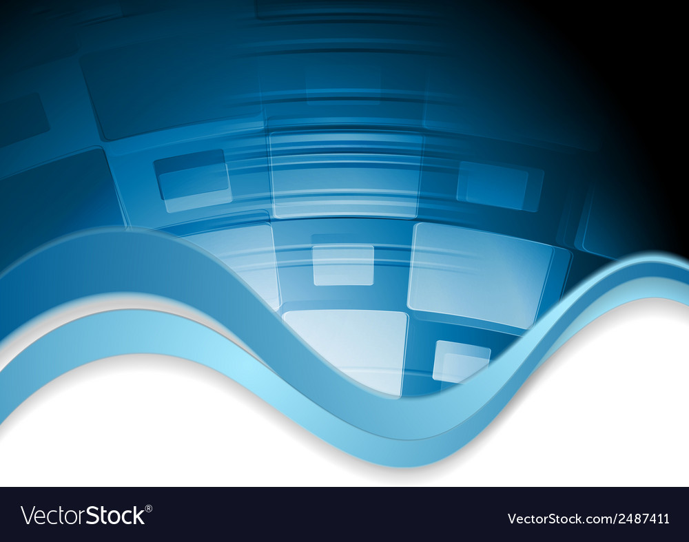 Abstract wavy tech background vector   Price: 1 Credit (USD $1)