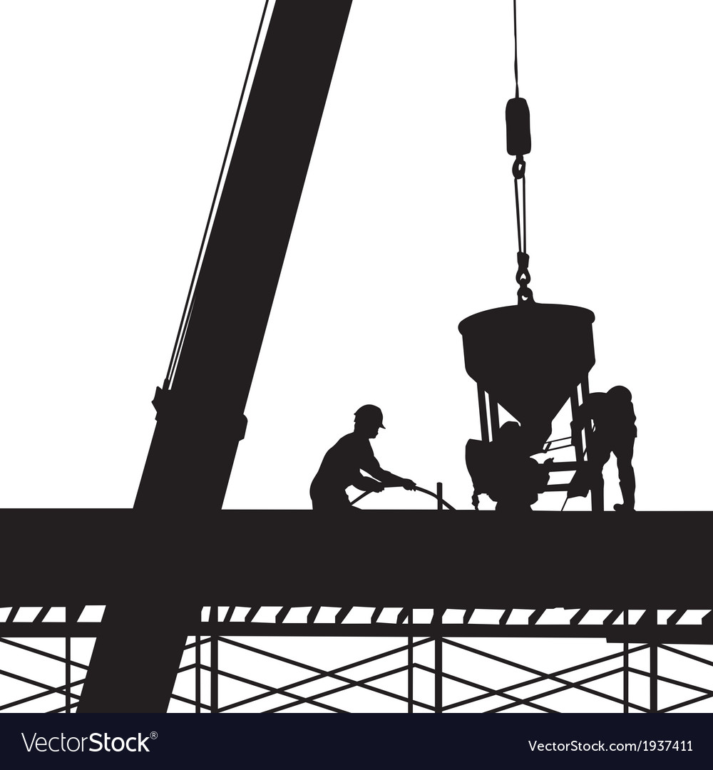 Construction silhouette vector | Price: 1 Credit (USD $1)