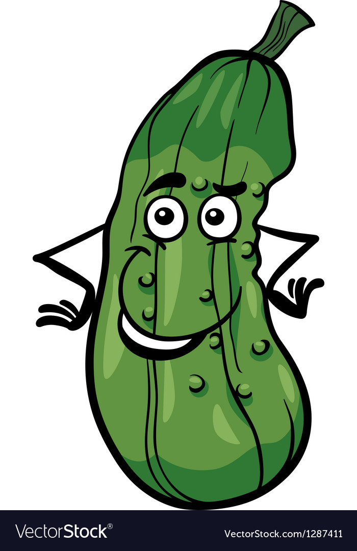 Cute cucumber vegetable cartoon vector | Price: 1 Credit (USD $1)