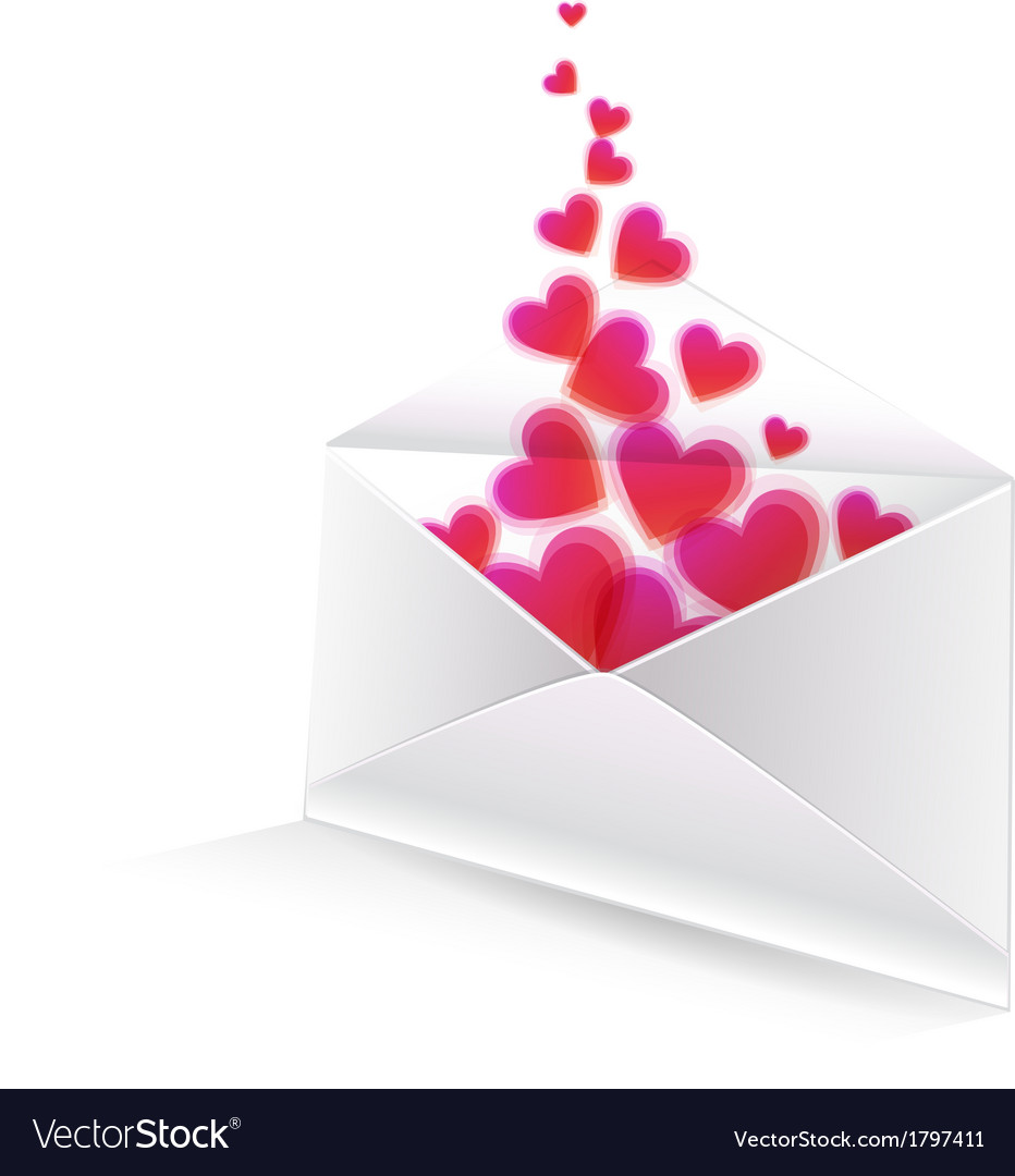 Heart in the envelope vector | Price: 1 Credit (USD $1)