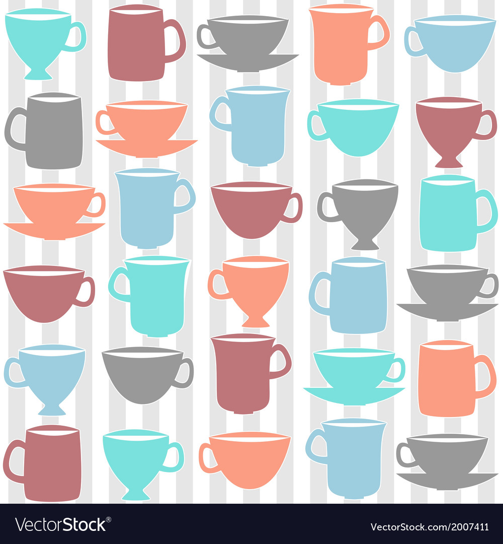 Kitchen cups vector | Price: 1 Credit (USD $1)