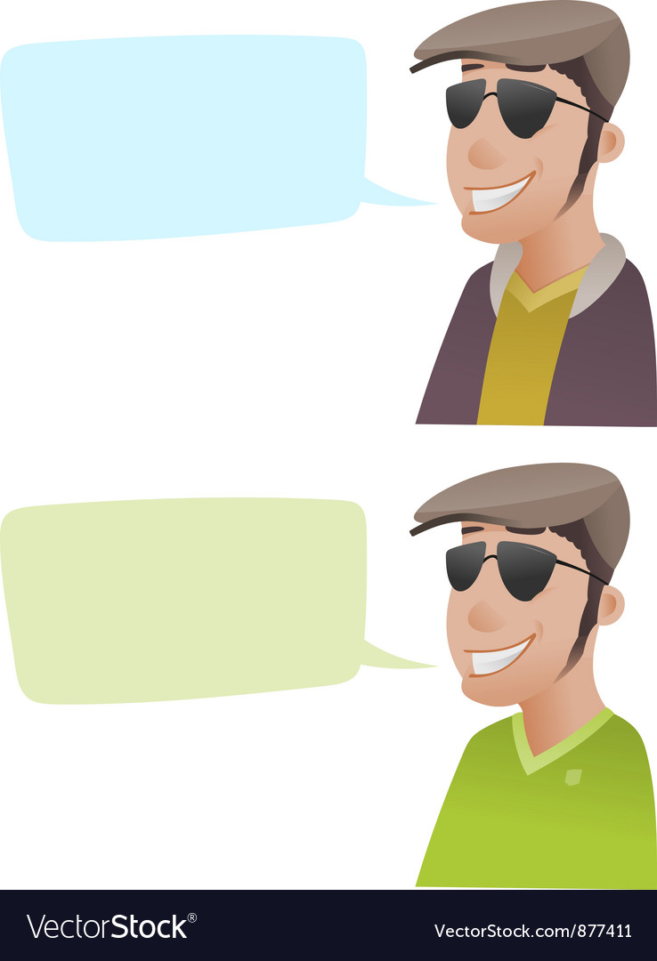 Man with flat caps vector   Price: 1 Credit (USD $1)