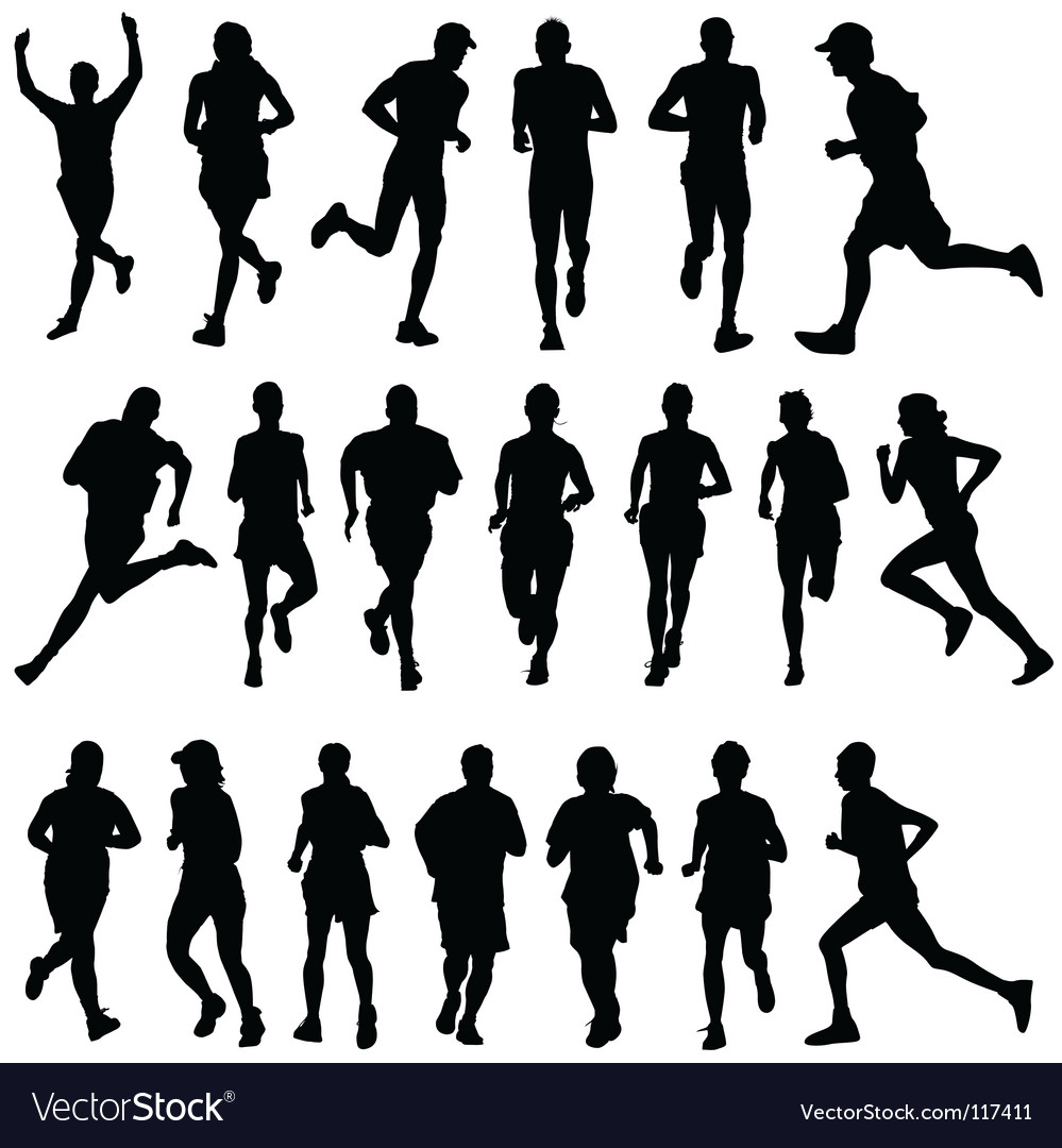 Runner people vector | Price: 1 Credit (USD $1)