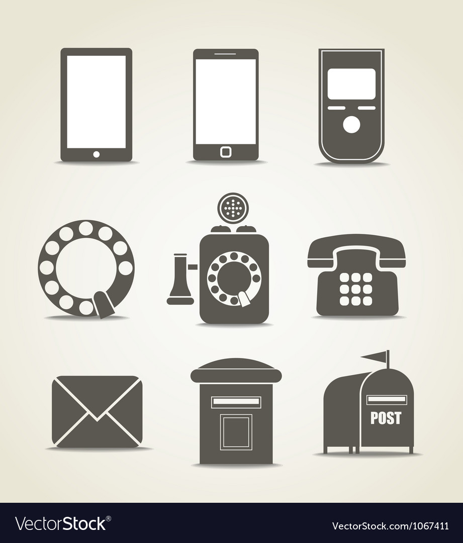 Telecommunicating icons vector | Price: 1 Credit (USD $1)