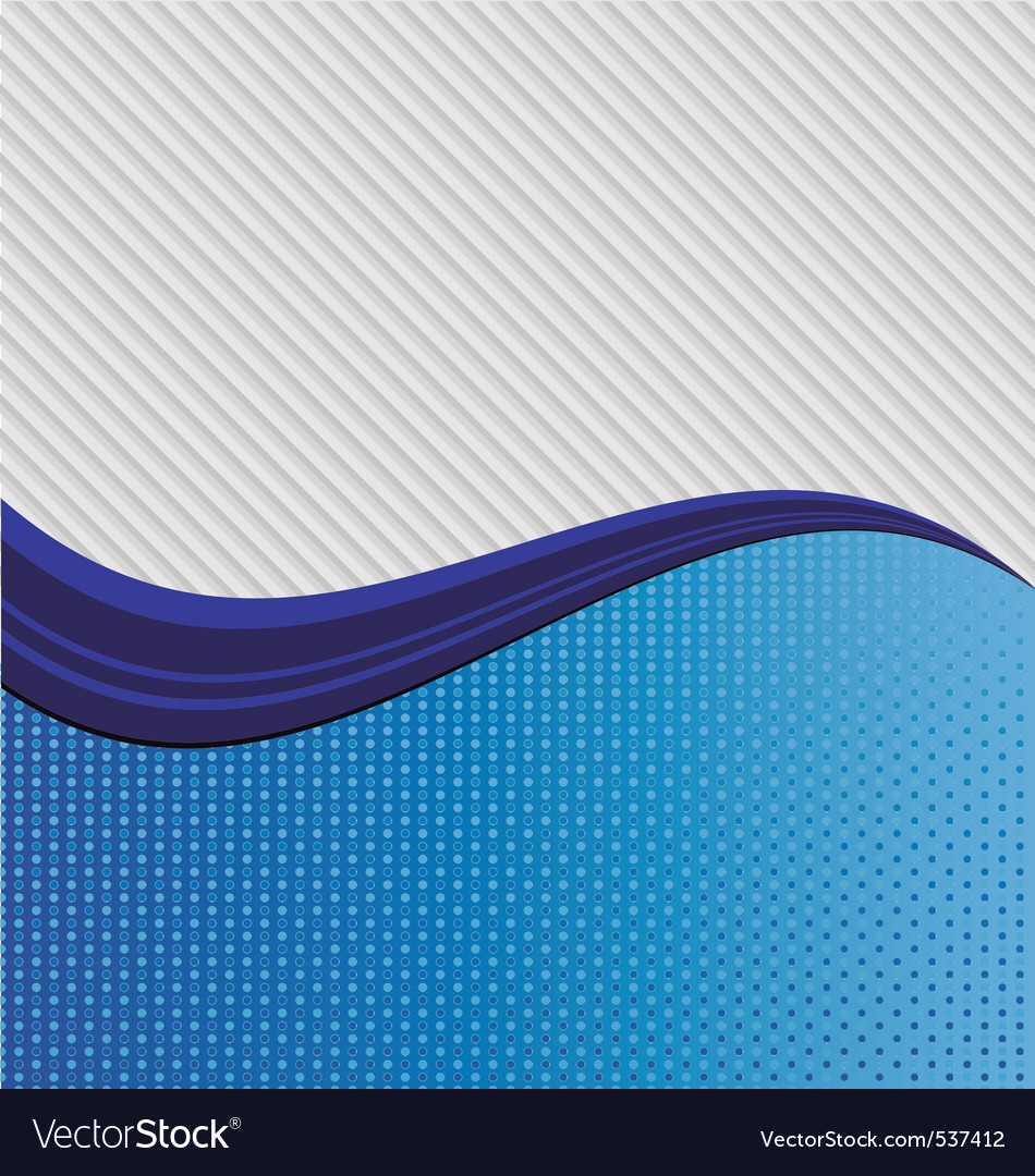 An abstract blue wave dividing two different textu vector | Price: 1 Credit (USD $1)