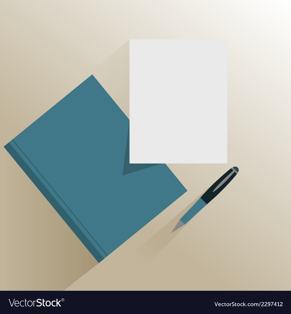 Book paper and pencil vector | Price: 1 Credit (USD $1)