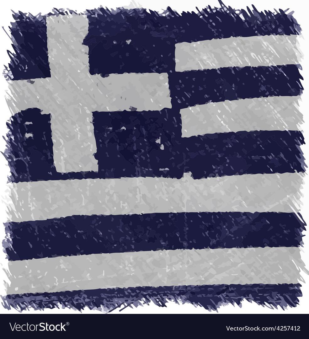 Flag of greece handmade square shape vector | Price: 1 Credit (USD $1)