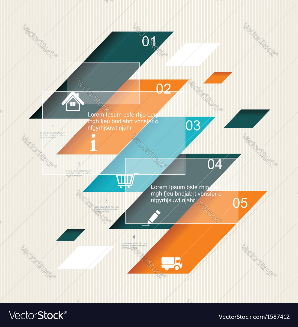 Modern step origami style options banner vector | Price: 1 Credit (USD $1)