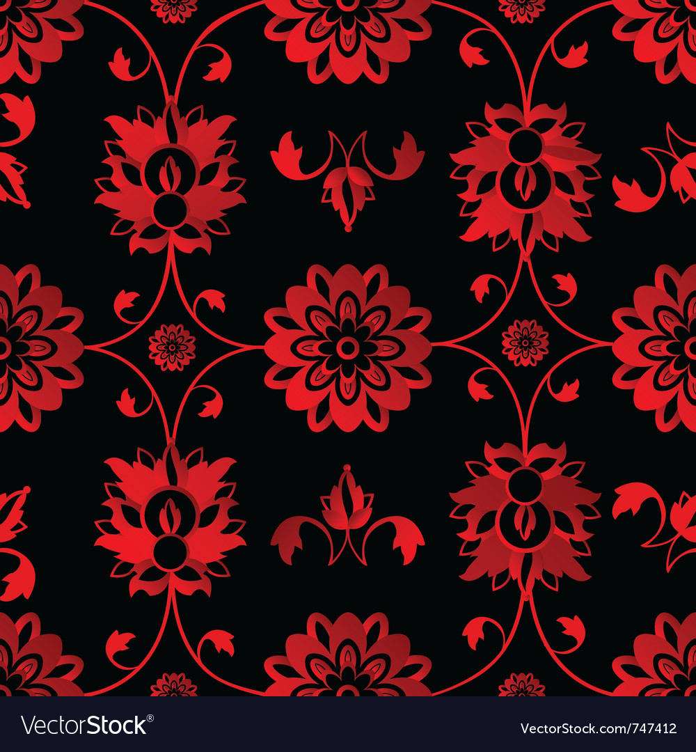 Red floral background vector   Price: 1 Credit (USD $1)