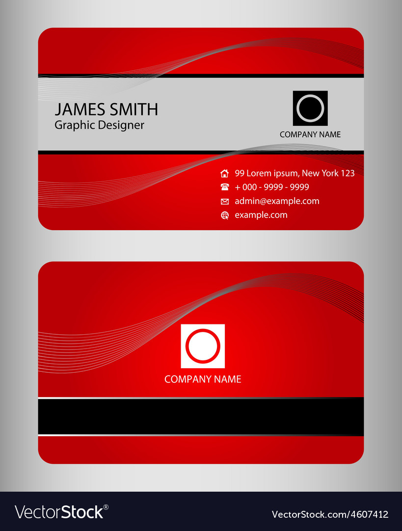 Set of business cards templates vector   Price: 1 Credit (USD $1)